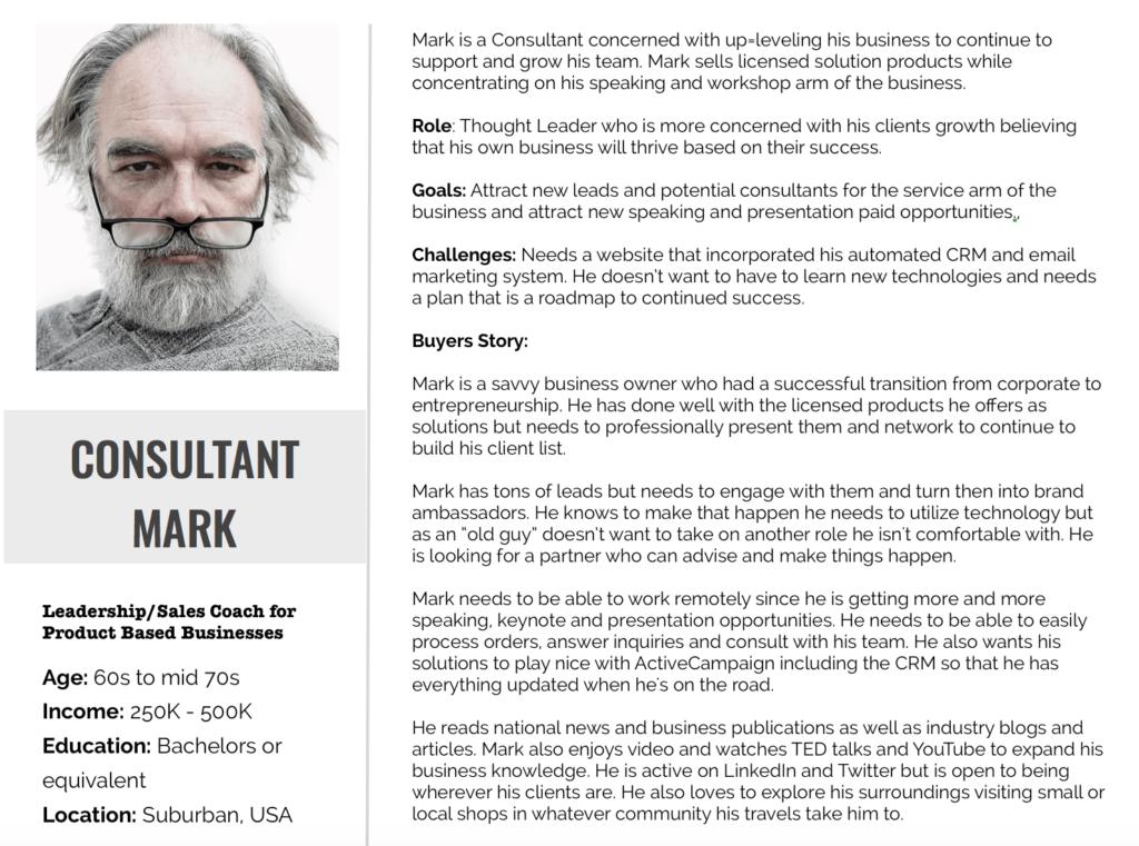 persona Mark has a backstory.