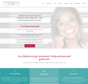 WordPress redesign client Diane Randall.